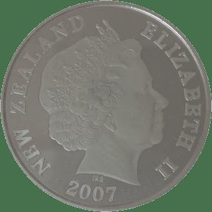 2007年ニュージーランド 1ドル プルーフ銀貨幣「アオラキ/マウント・クック」